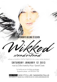 Club Se7en Saturdays Belong To Seven - Wikked Wonderland